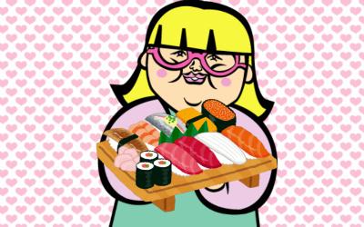 街コンでお寿司をねだるブス